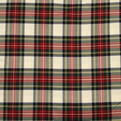 Cuadros Escoceses Blanco y Rojo