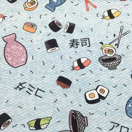 Manteleria Antimanchas Estampado Sushi