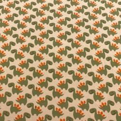 Estampado Dinosaurios fondo Beige (Punto de Camiseta)