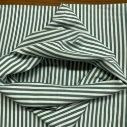 Tela de Puño de Rayas Verde y Blanco (5mm)