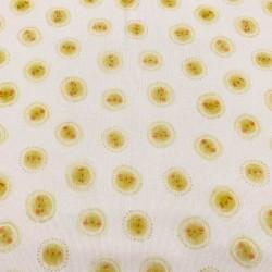 Pique Canutillo Estampado Soles Amarillos fondo Blanco