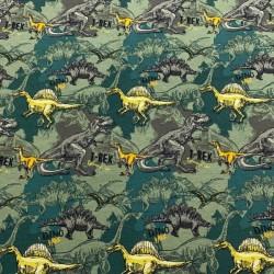 Estampado Dinosaurios fondo Verde (Punto de Camiseta)